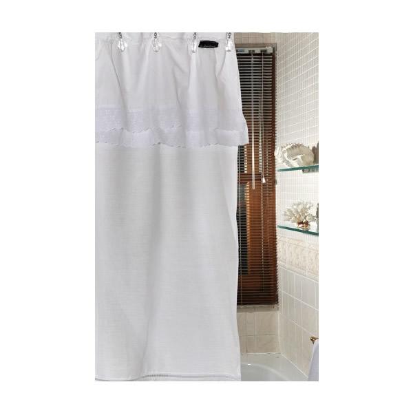 cortina de baño broderie