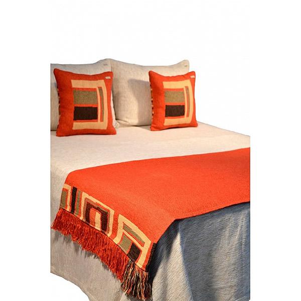 Pie de cama Ampakama carmín