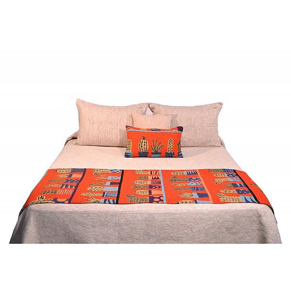 Pie de cama cactus pimentón
