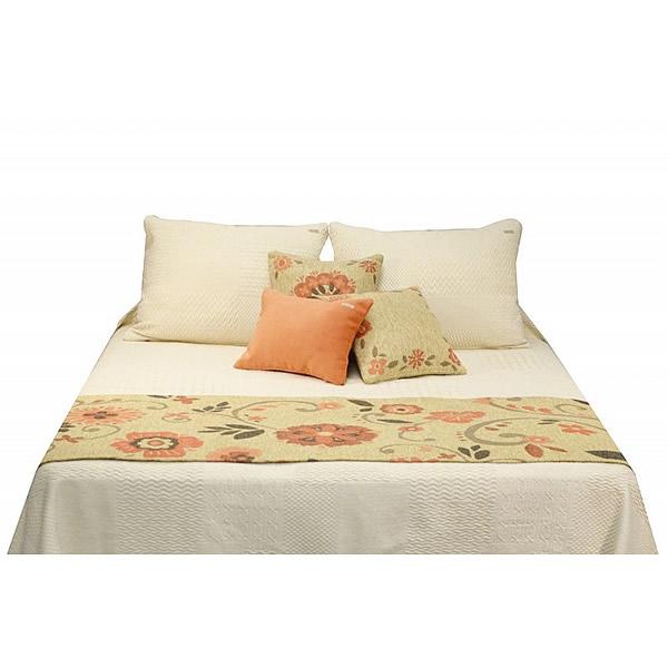 Pie de cama Anthropologie beige tomate