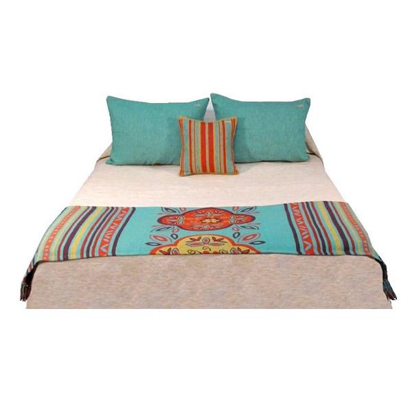 Pie de cama Emilia turquesa