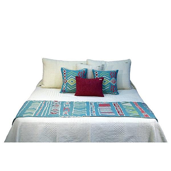 Pie de cama Huyuni turquesa
