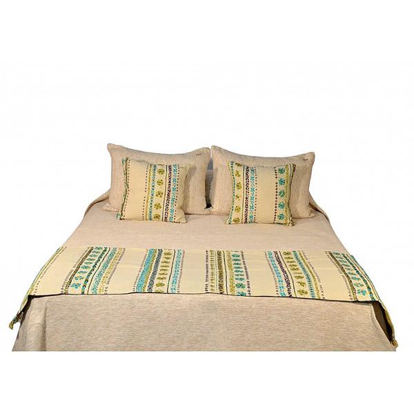 Pie de cama Nona Guarditas turquesa