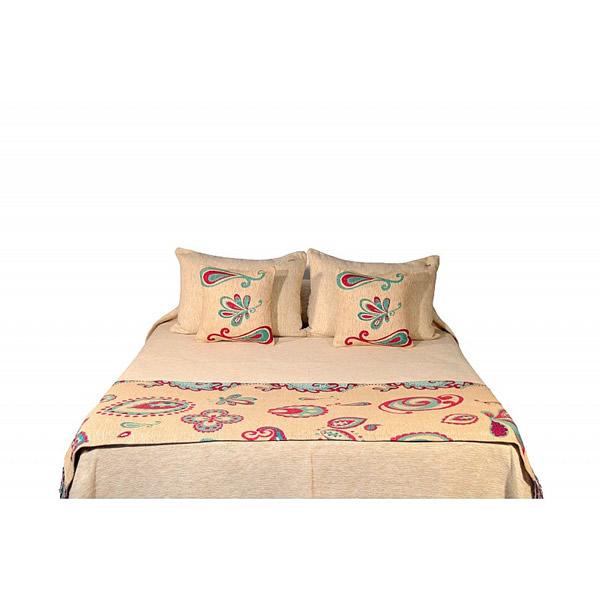 Pie de cama Paisley turquesa