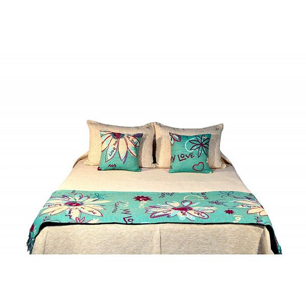 Pie de cama Weekend turquesa
