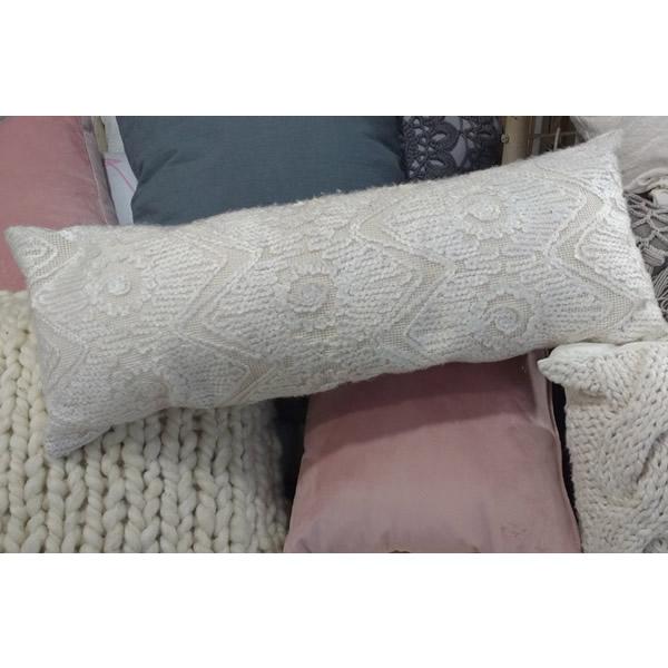 Almohadon lana bordada 25x60 - 45x45