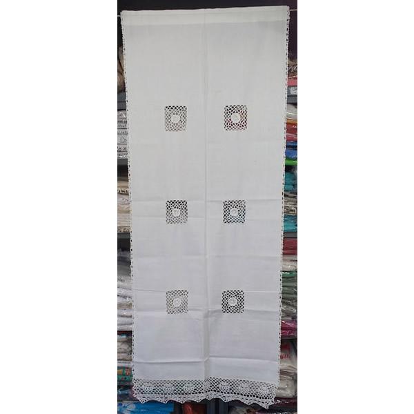 Visillos tela calada cuadrados