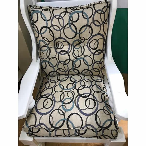 Almohadón de sillón estampado